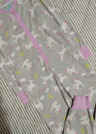 Слип пижама ромпер человечек с единорогами