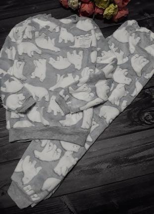 Плюшевая тёплая пижама мишки