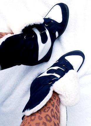 Зимние/итальянские/замшевые ботики/сникерсы/хайтопы на овчине isabel marant sneakers.