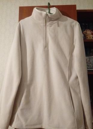 Флисовая женская кофта, туника, свитер, джемпер, свитшот, пуловер