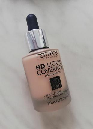 Тональный крем catrice hd liquid coverage foundation 010