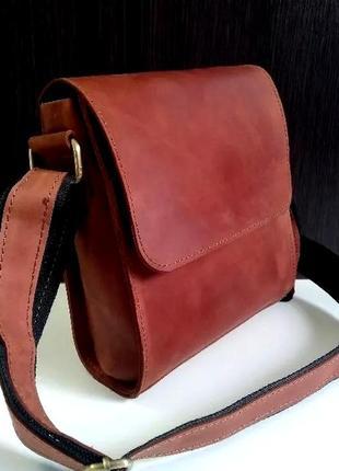 Кожаная мужская сумка hand made italy