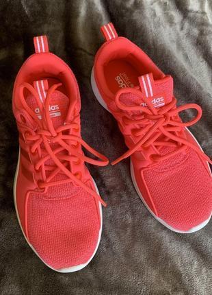 Кросівки, кроссовки adidas, рожеві неонові, яскраві кросівки, для широкой ноги.