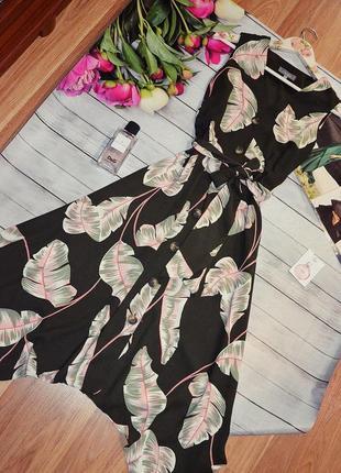 Шикарное платье миди на пуговици