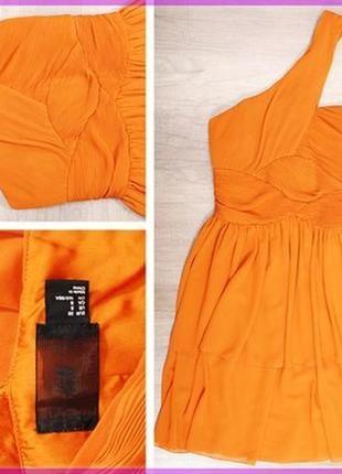 🎀👗🎀красивое, женское вечернее, коктейльное оранжевое платье от h&m🔥🔥🔥