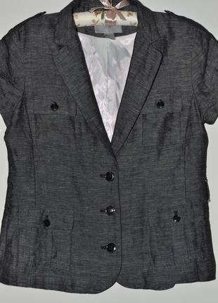 Стильный пиджак жакет на подкладке лен