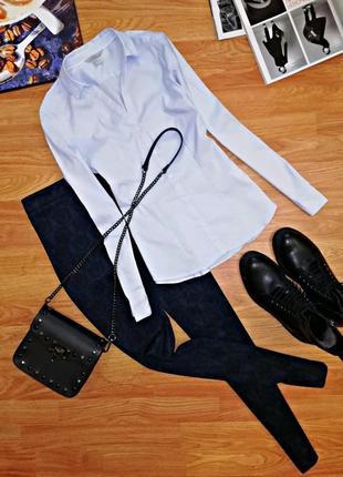 Женская идеальная офисная брендовая рубашка - сорочка h&m - размер 42