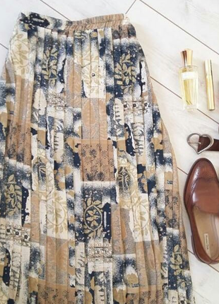 Изумительная юбка миди плиссе..# 524