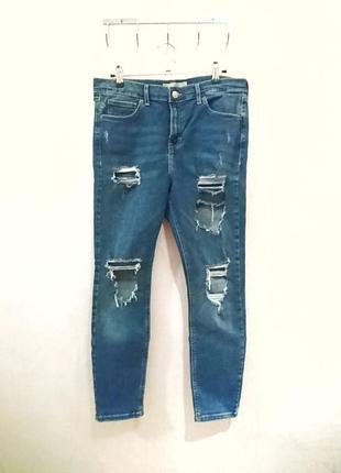 Трендовые рваные джинсы узкие скинни рванки 🔸 бренд topshop
