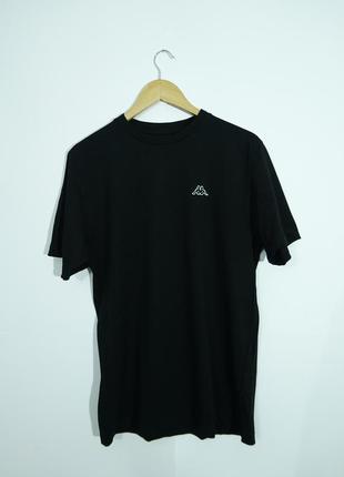 Черная базовая футболка kappa