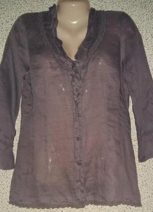 Стильная льняная рубашка,туника от бренда nile.швейцария