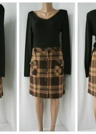 Новая стильная модная юбка ann taylor на пуговицах спереди. размер uk 12.
