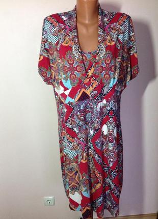 Bonita- xxl- вискозное принтовое платье.