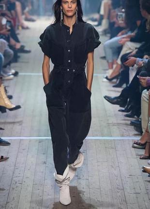 Модный джинсовый серый комбинезон
