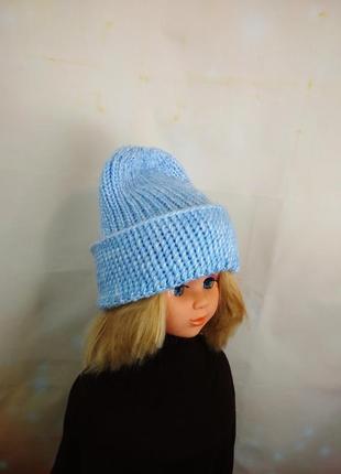 Модная шапка с отворотом 52-56р