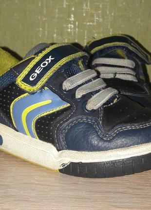 Детские синие кроссовки geox 15см