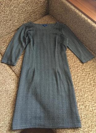 Актуальное серое платье