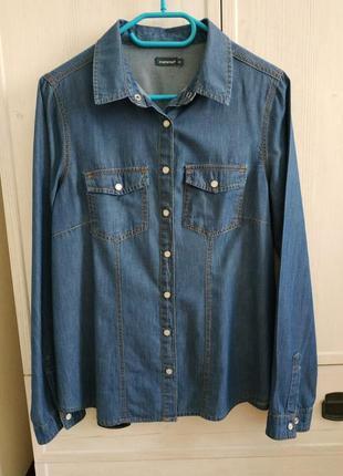 Джинсовая рубашка р. 40