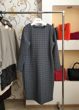 Повседневное , базовое платье в клеточку , большой размер