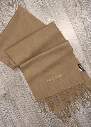 Теплый шерстяной шарф от люкс бренда