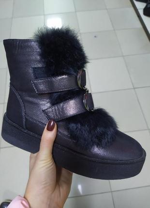 Зимние женские ботинки на платформе