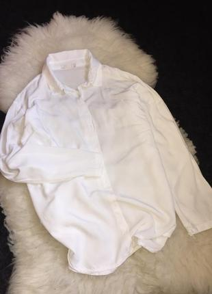 Рубашка блуза вискоза pepper italy белоснежная оверсайз
