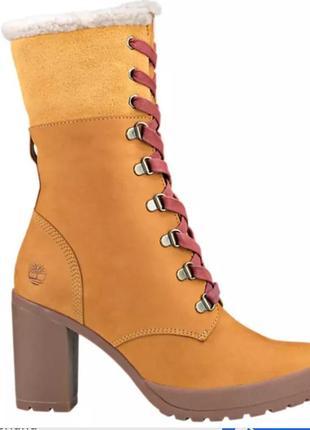 Нубуковые ботинки,ботильоны timberland,оригинал.