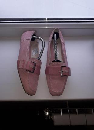Туфли/мокасины из натуральной кожи/замши tcm