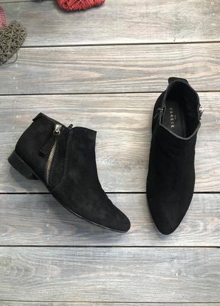 5th avenue замшевые фактурные ботинки на молнии