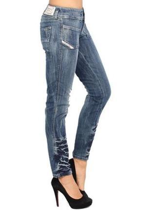Крутые   потертые джинсы  (diesel women's hushy jeans ) 24/32