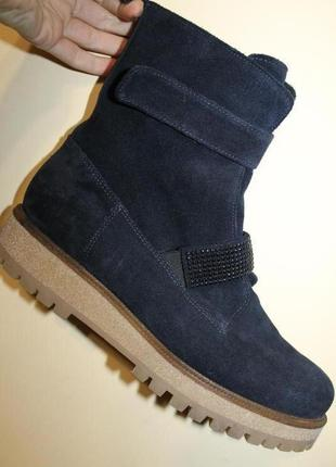 41 разм. шикарные ботинки manas. замша. италия