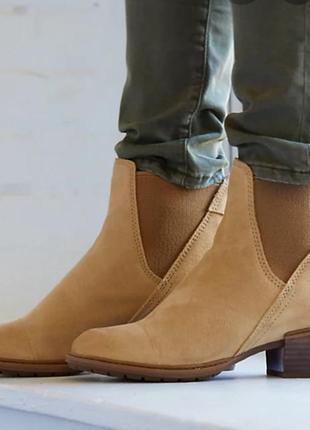Замшевые ботинки,челси timberland,оригинал.