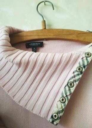 Нежно розовый  джемпер свитер гольф водолазка от burberry