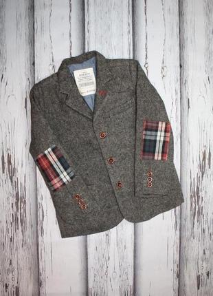 Шерстяной пиджак жакет zara на 4-5 лет, 110 рост.