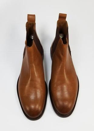 Zign made in india мужские кожаные ботинки на осень зиму коричневого цвета