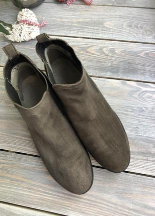 Caprice замшевые утеплённые челси, ботинки6 фото