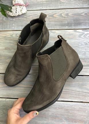 Caprice замшевые утеплённые челси, ботинки5 фото