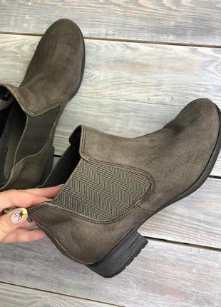 Caprice замшевые утеплённые челси, ботинки4 фото