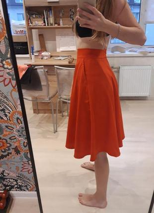 Коралловая юбка -солнце