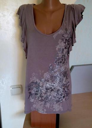 Оригинальная летняя блузка цвета капучино