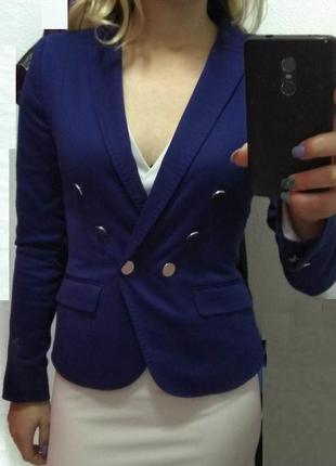 Жіночий синій піджак h&m 42 розмір / женский синий пиджак