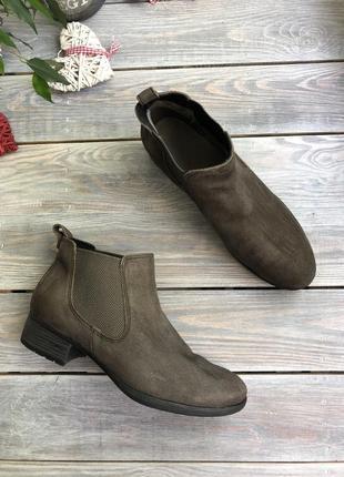 Caprice замшевые утеплённые челси, ботинки1 фото