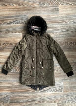 Новая суперская хаки куртка парка с капюшоном с черным искусственным мехом от brave soul