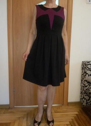 Тепленькое хорошенькое комбинированное платье
