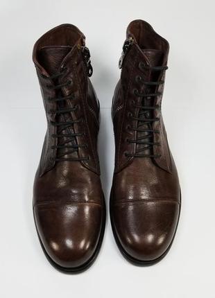 Sturlini made in italy мужские кожаные ботинки на осень зиму коричневого цвета 10 uk
