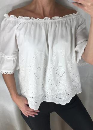 Блузка на плечики прошва new look
