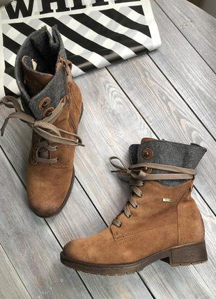 Go soft замшевые утепленные ботинки сапоги