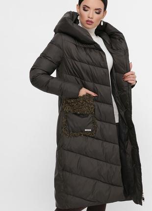 Пальто теплое длинное женское