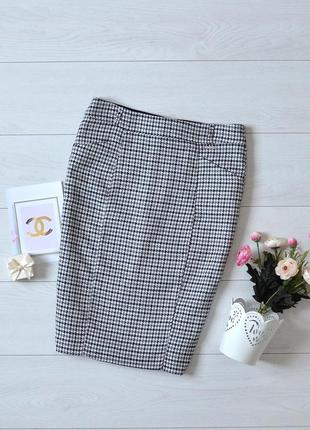 Стильна юбка в гусячу лапку orsay.
