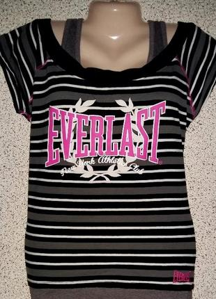 Яркая модная спорт футболка от бренда everlast.оригинал